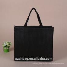 Cópia de cor preta não tecida reusável do saco de compras do saco da alta qualidade