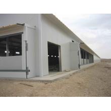 Maison de poulet à structure en acier inoxydable