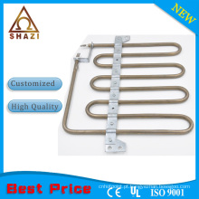 Elemento de aquecimento tubular com aletas para ar condicionado