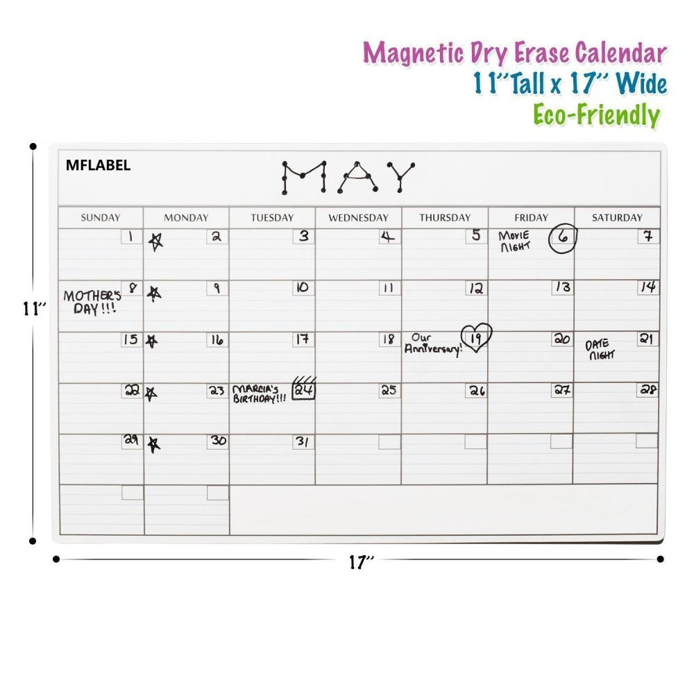 Kids Magnetic Refriger Calendar Holder