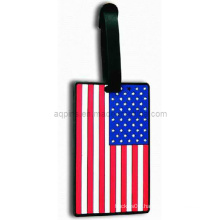 Hot Selling Soft PVC Luggage Tag in USA Flag (LT-02)