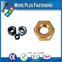 Fabriqué en Taiwan en acier inoxydable en laiton en aluminium en silicone Bronze M32 Hex Jam Nut