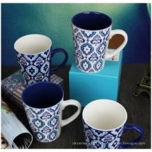 Cadeaux en gros Creative personnalité tasse en céramique, motif décoratif peint à la main