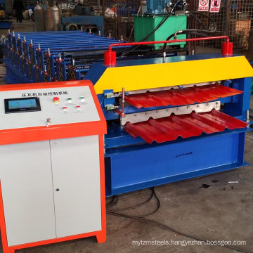 Double Deck Galvanized Cold Panel Roll Forming Machine Steel Arch Building Machine