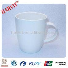 9oz white stock ceramic drinking mug