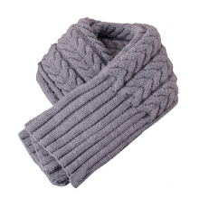 Womens Thick Ribbed Cable Knit Winter Shawl Scarf (SK101)