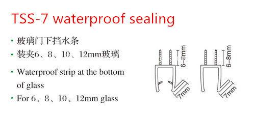 Tss 7 shower screen rubber seal