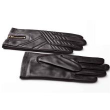 Мужская мода молния кожа мотоцикл вождения перчатки (YKY5184-1)