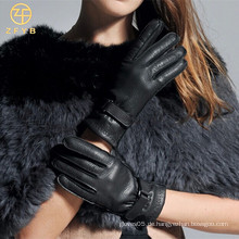 Populärer Handschuh mit echtem Leder Für Dame