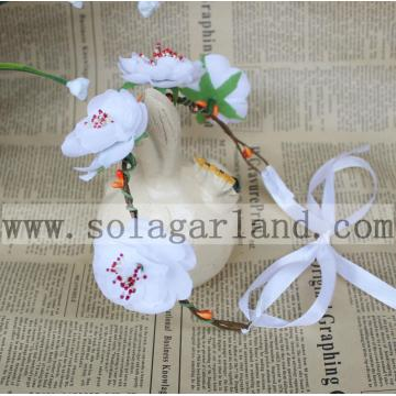 New fashion Lady Girl's simple cheap flower head band Wedding garland