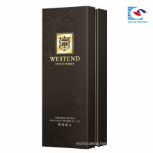 Top quality custom black cardboard Packaging gift Wholesale Paper Wine Box