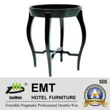 Mesa de café redonda de la laca del piano de madera de goma 2016 (# EMT-CT09)