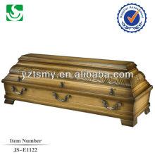 boîte de cercueil merisier massif vente chaude