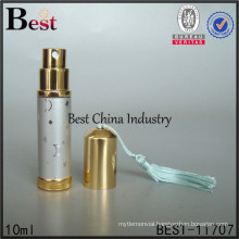 refill cosmetic container, perfume atomizer spray glass bottle 10ml