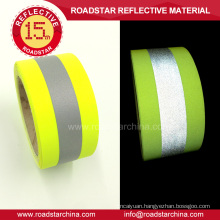 Fluorescent yellow T/C backing reflective warning tape