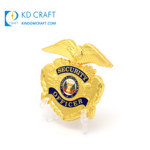 Unique design custom metal zinc alloy soft enamel gold plated free sample military 3d security challenge coin