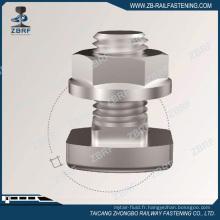 Boulon d'attache de rail de grue avec écrou à bride hexagonale
