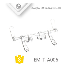 EM-T-A006 Pulido cromado soft-close Stainles acero inodoro asiento bisagras Sanitarios