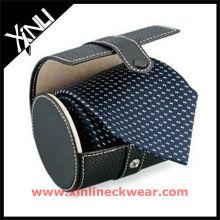 Nova coleção de couro caixa de gravata