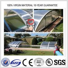 4мм поликарбонат полые панели ПК солнце лист для покрытия бассейна