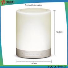 Alto-falante portátil sem fio Bluetooth lâmpada LED (branco)