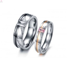 Wholesale fashion new designs couples country promise engraved finger ring