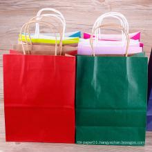 Wholesale Logo Printed Retail Custom Kraft Paper Shopping Bag