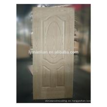 Chapa de la puerta de madera de madera real moldeada piel de la puerta de madera en China