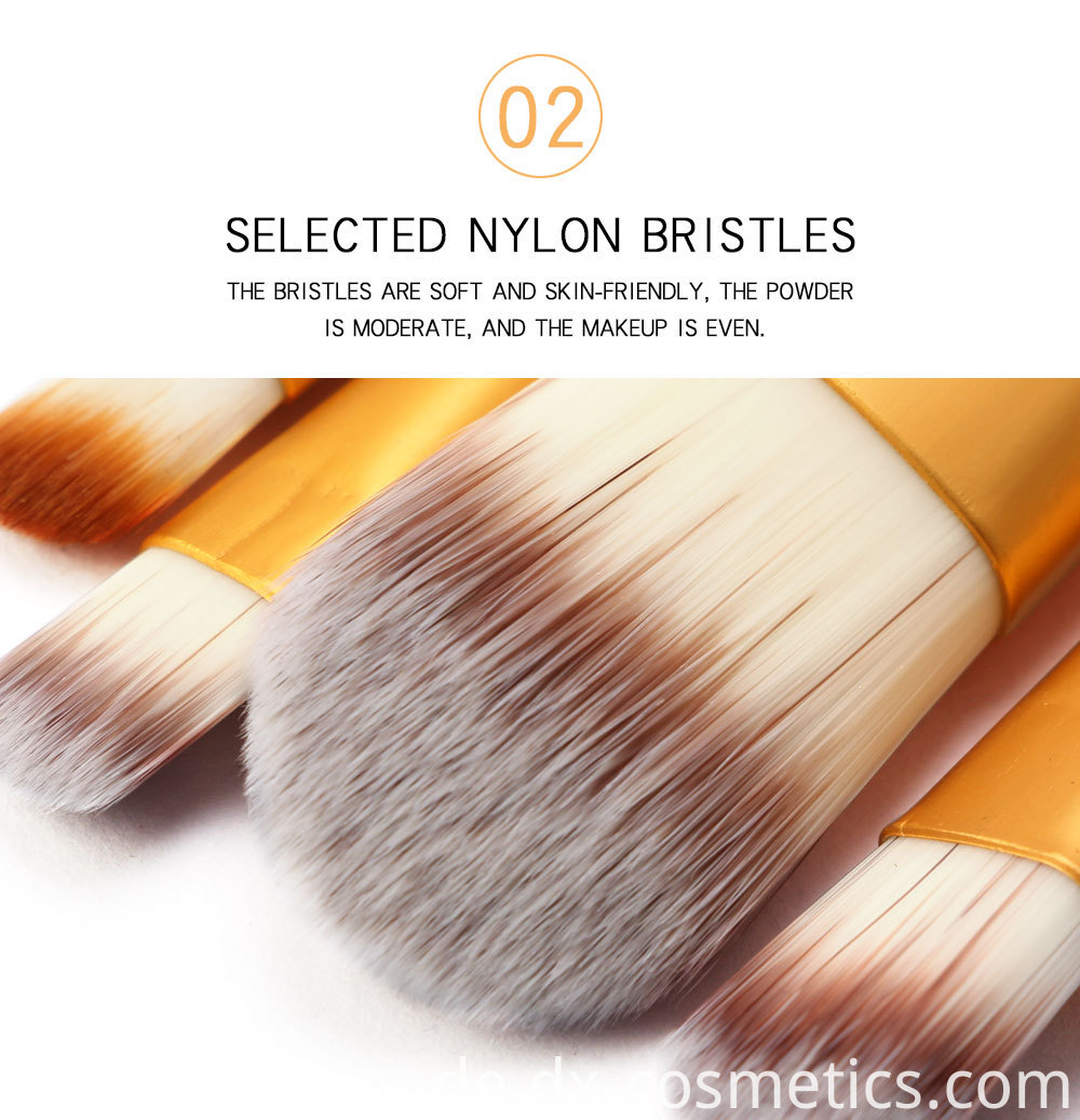15 Pieces Crystal Travel Makeup Brushes Set 3