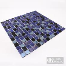 Carreaux de mosaïque en verre avec motifs de couleurs composites