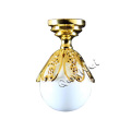 Metal Petal dollhouse ceiling lamp in button battery