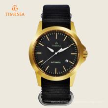 Timesea Saphirglas goldene Uhr Automatikwerk Herrenuhr 72240