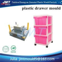 JMT Huangyan OEM 3 deep pink drawer storage plastic injection mould