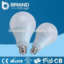 Brilho elevado Plástico + alumínio 9W E27 A19 Luz de bulbo do diodo emissor de luz, CE RoHS