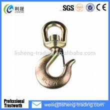 High tensile forged swivel lifting eye hook