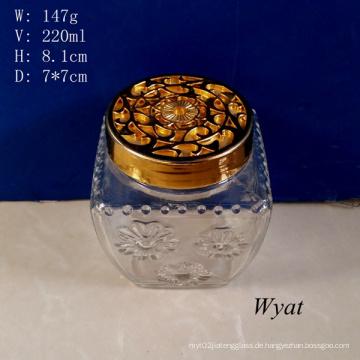 220ml graviert Aroma Diffusor Glasflasche mit Kunststoffdeckel
