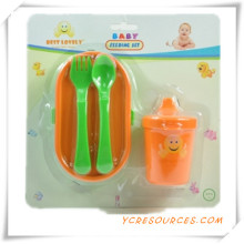 Childern Safe Portable Baby Cuchara y Tenedor Baby Dinnerware Set 2015 Regalo promocional para Baby Care Boxes of Small Suit (HA78042)