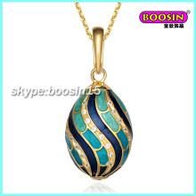Nouveaux bijoux personnalisés en alliage émaillé pendentif collier oeuf Fabergé