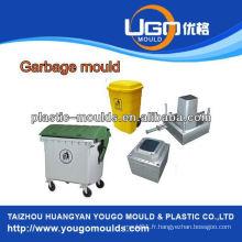 Moule de poubelle en plastique extérieur moule moule d'injection, fabricant de moule à ordures