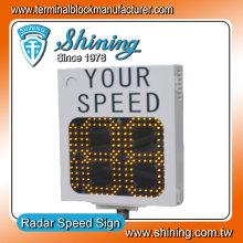 Stahl Gehäuse 18 Zoll LED Licht Verkehr Radar Geschwindigkeit Display