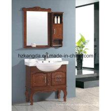 Gabinete de banheiro de madeira maciça / vaidade de banheiro de madeira maciça (KD-450)
