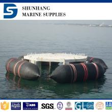 inflable industrial que construye las bolsas de aire salvavidas marinas de goma naturales del barco