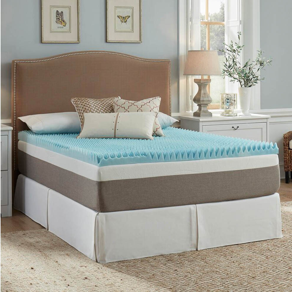 Twin Bed Egg Crate Mattress Topper