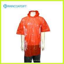 Poncho jetable clair de pluie de PE d'adulte bon marché Rpe-147b