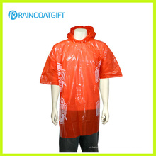 Günstige Erwachsene klar Einweg-PE Regen Poncho Rpe-147b