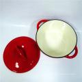 Caçarola de esmalte de ferro fundido clássico com design perfeito