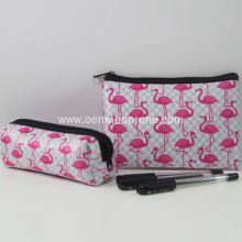 Full flamingo printing pencil bag case pouch utility