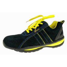 Sepatu Olahraga Safety Suede Leather MD Sole