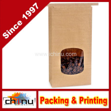 Tin Tie Kraft Bag Bakery Bag with Window (220118)