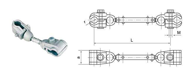 Damper Spacer for Double Conductor